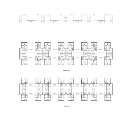 student-accomidation-cluster-plans-elevations_illust